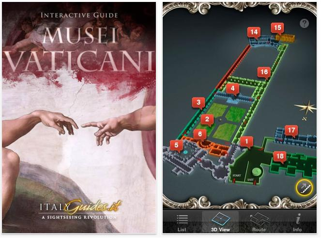 Mobile Application Vatican Museum Intelligent Heritage - Map of museums in the us